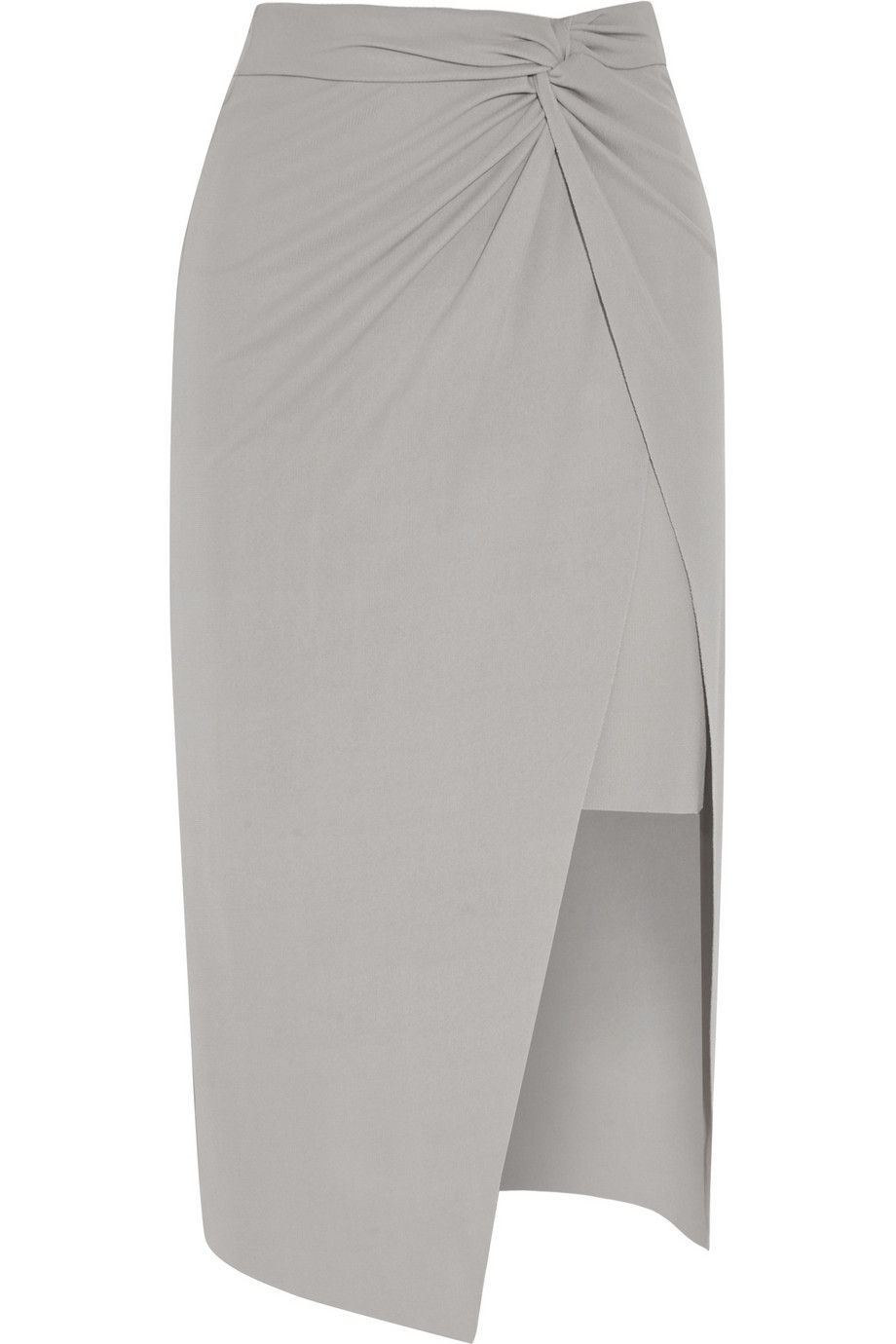Helmut LangHelix knotted jersey-crepe skirtclose up