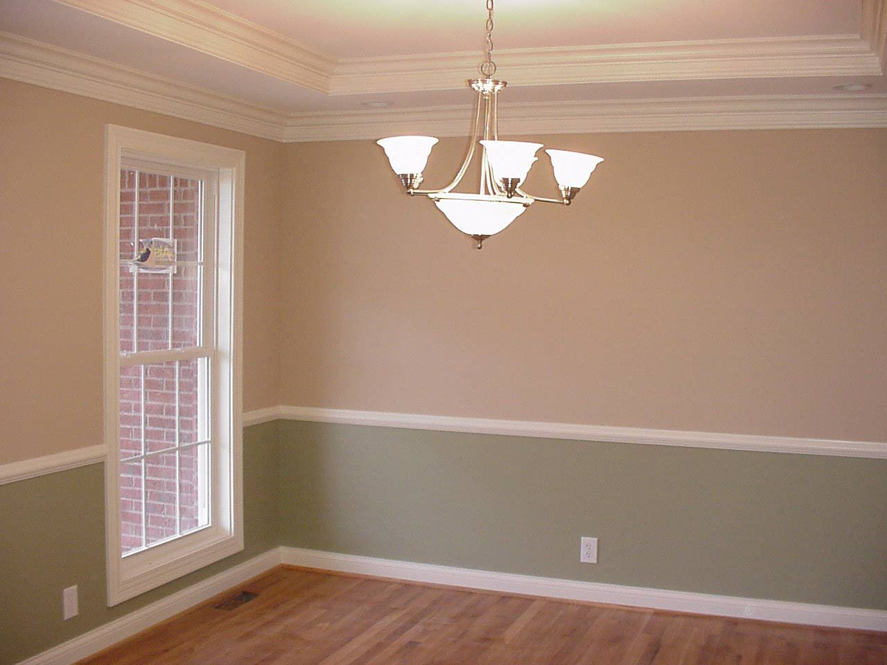 DO NOT LOVE This Shade Of Brown Dining Room Paint Ideas With Chair Rail