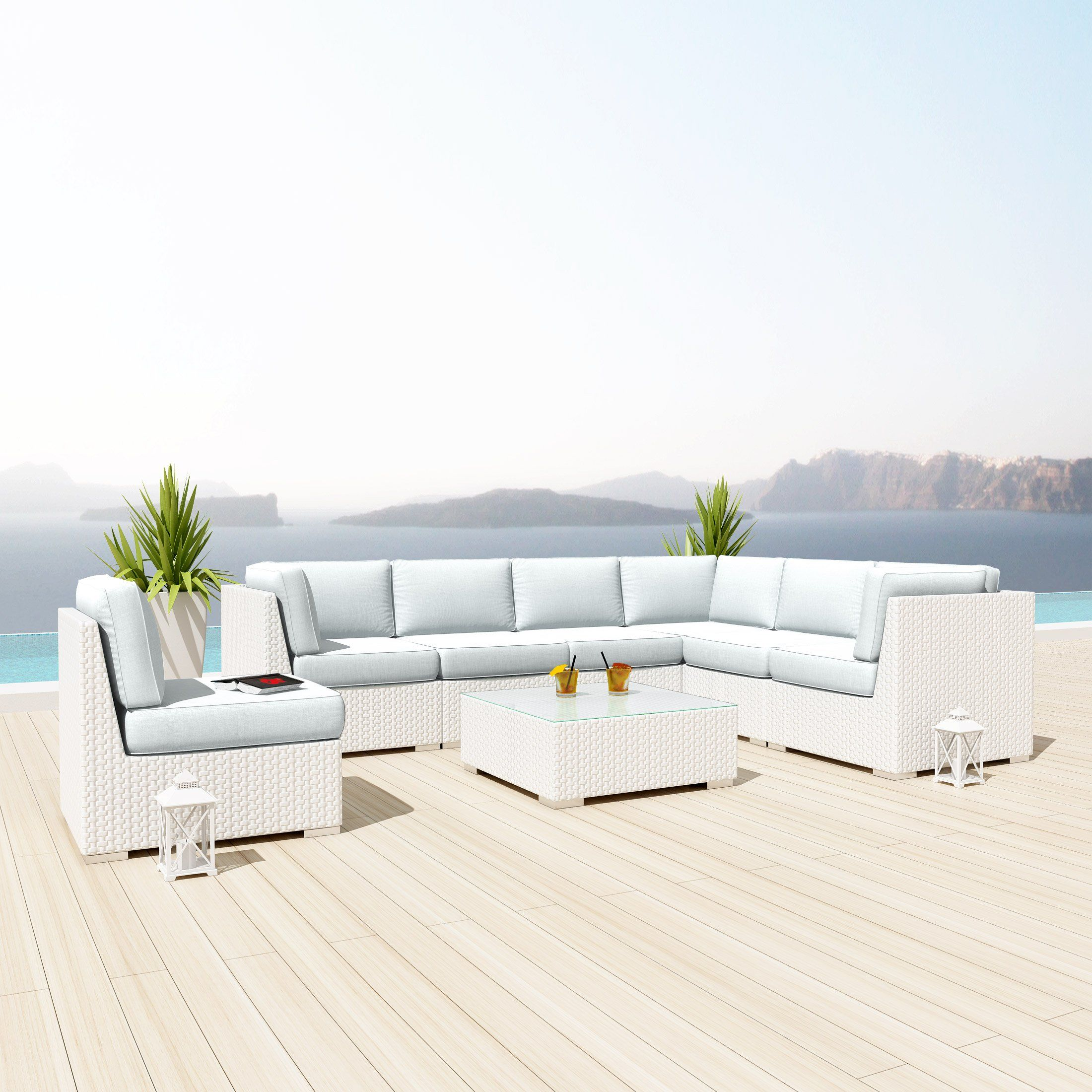 Enjoyable New Uduka Kahlo 8 Pcs Outdoor Off White Sectional Patio Unemploymentrelief Wooden Chair Designs For Living Room Unemploymentrelieforg