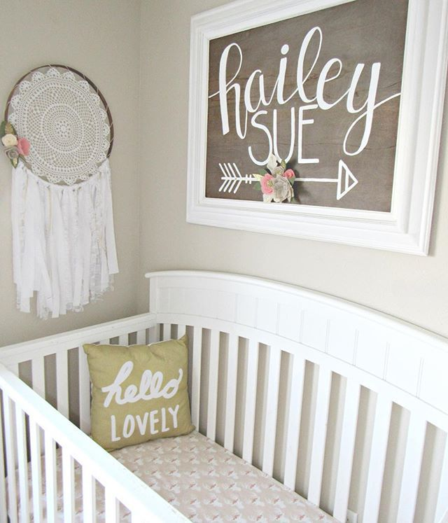 Simple Decorating Girl Nursery Design: Baby Girl Boho Woodland Nursery