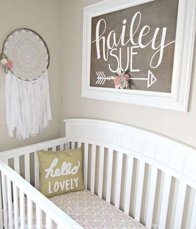 Baby girl boho woodland nursery nursery ideas for Baby name decoration
