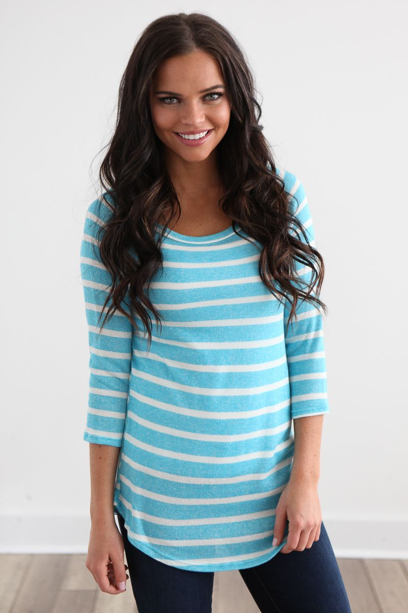 Magnolia Boutique Indianapolis - Pastel Striped Top- Blue, $26.00 (http://www.indiefashionboutique.com/pastel-striped-top-blue/)
