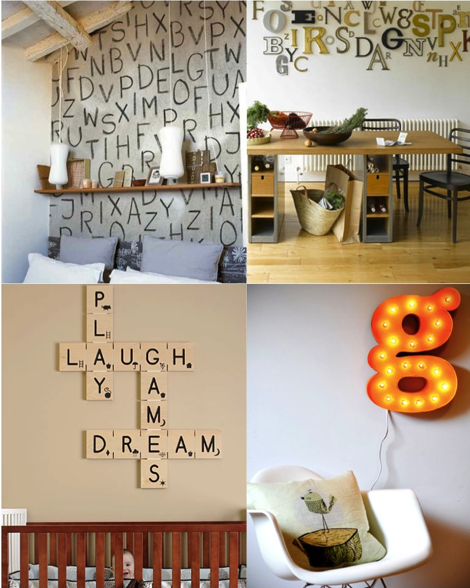Decorating with Letter Wall Decor #alphabet | Living Room ...