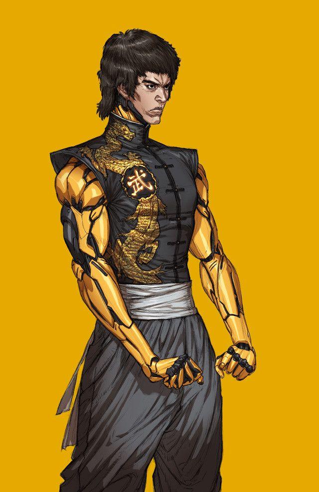 Bruce Lee, Woo Kim on ArtStation at https://www.artstation.com/artwork/yAdrn