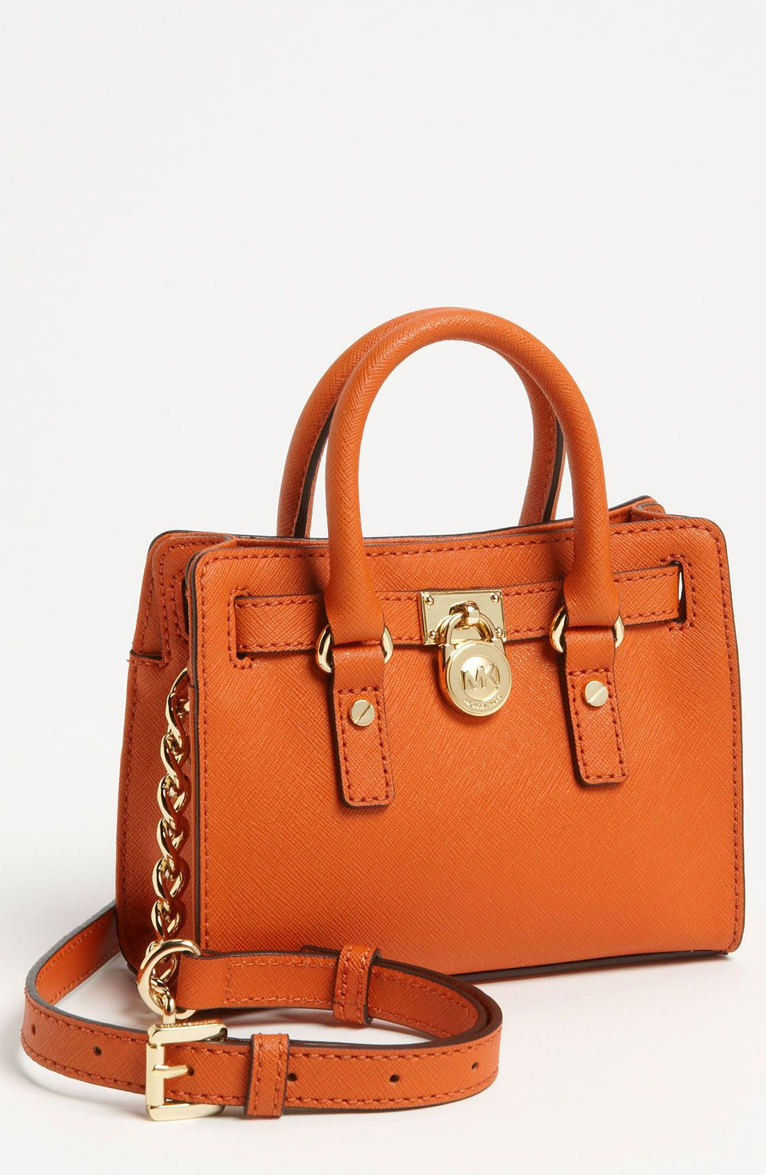 2b7039891fef MICHAEL Michael Kors 'Hamilton - Mini' Leather Messenger Bag | Nordstrom