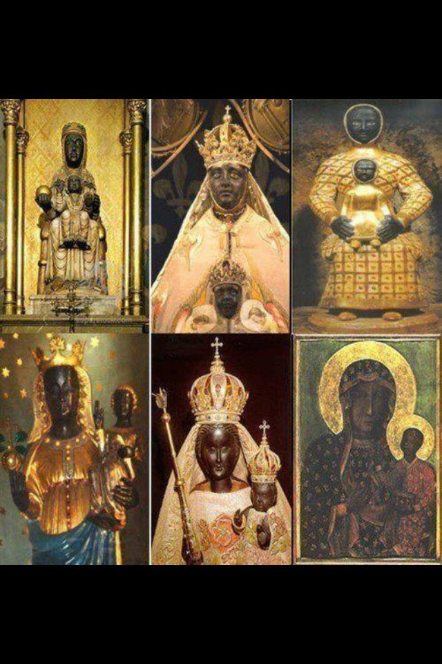 Church Of The Black Madonna Nubian Women Found In The Catholic Church Black History Facts