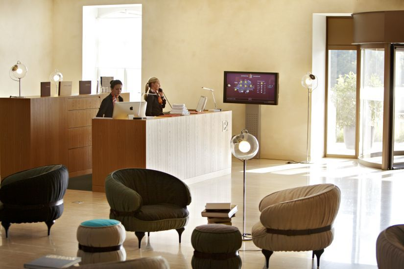 Carefully selected armchairs, design classics and Dixon lamps create a vintage feel //  B2 Boutique Hotel & Spa. // Zurich