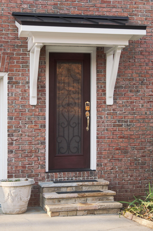 Bracket Side Portico Designed And Built By Georgia Front Porch Portico Design Awning Over Door Door Overhang