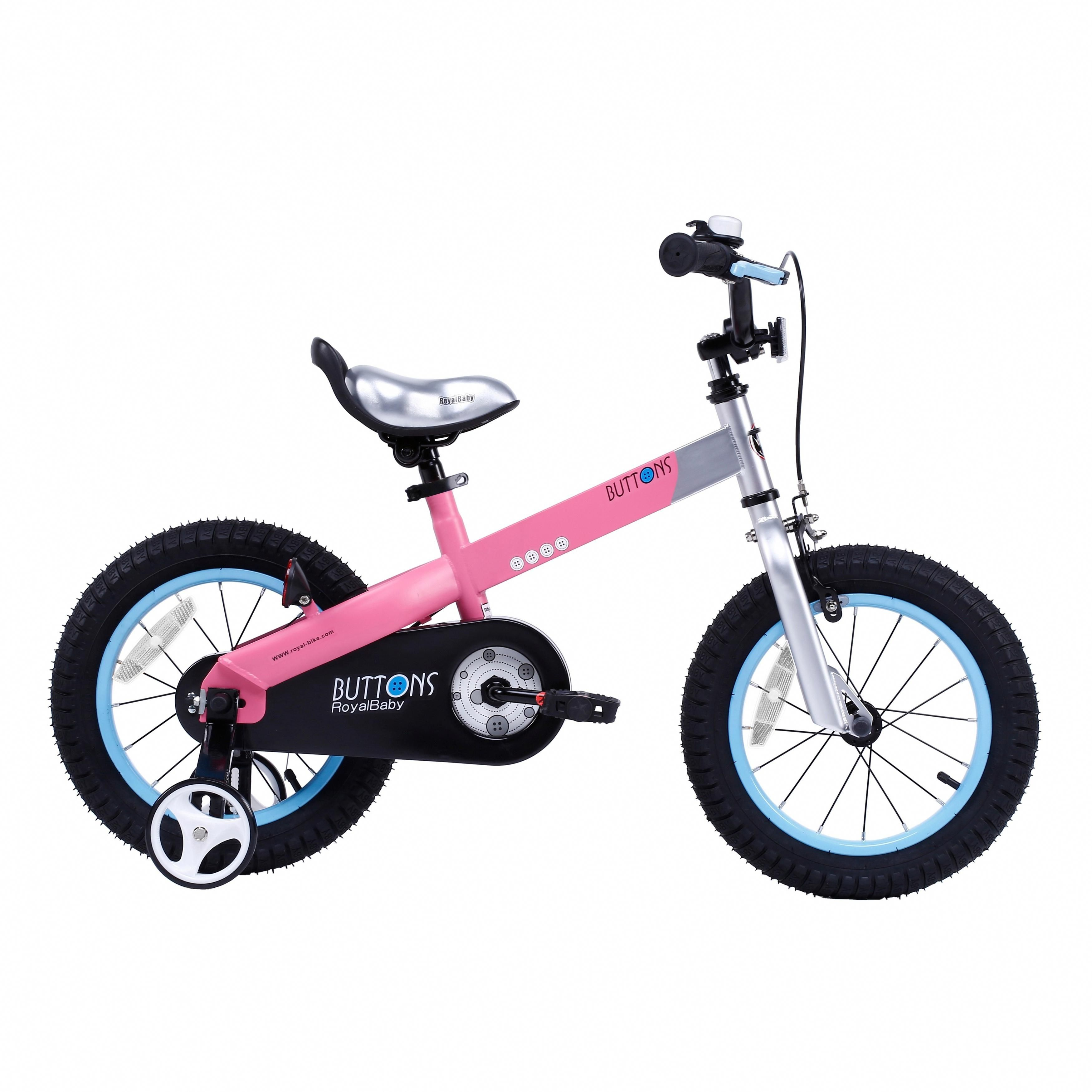 f3d1cd9c9057 Royalbaby Matte Buttons 14-inch Kids' Bike with Training Wheels (Pink)  #bestbikeproducts