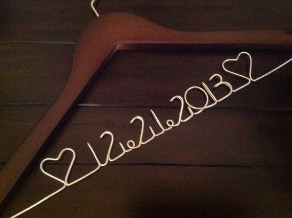 CYBER WEEK SALE. Personalized Wedding Hanger/ Brides Hanger/ Bride/ Name Hanger/ Wedding Hanger