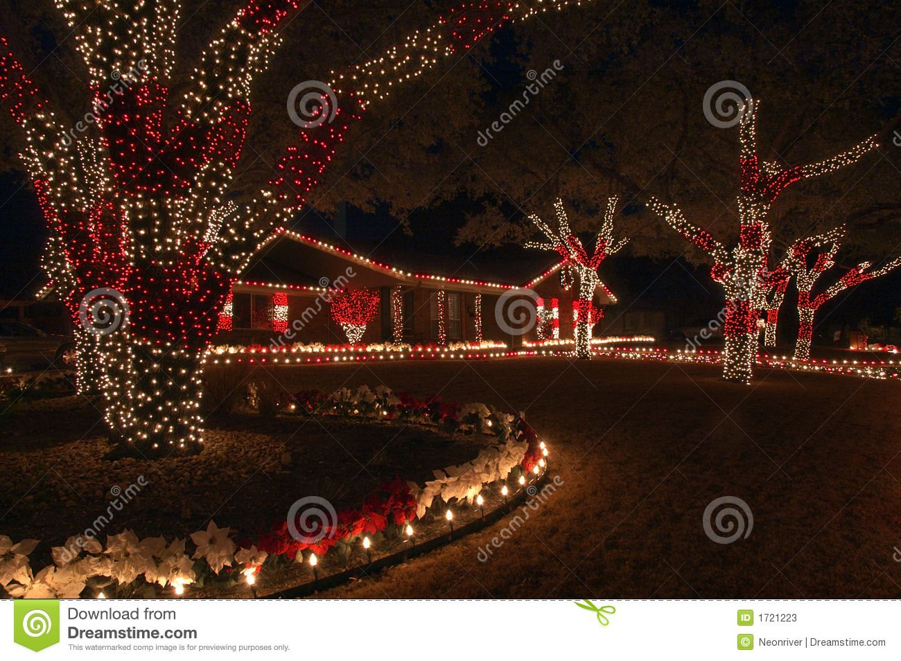 Red and white christmas lights stock photos image 1721223 red and white christmas lights stock photos image 1721223 mozeypictures Choice Image