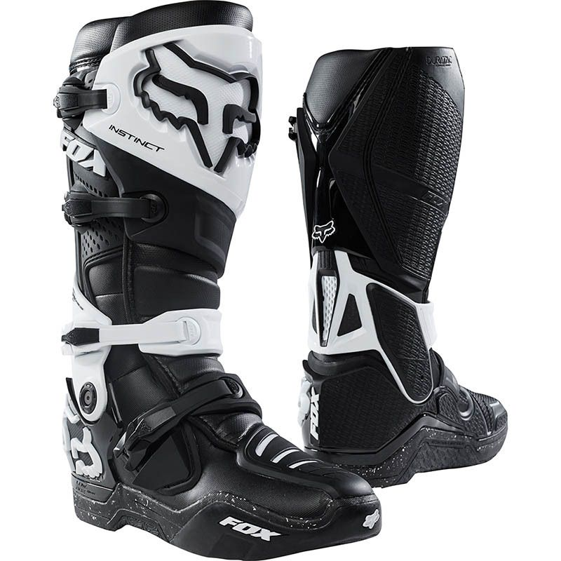 Fox 2018 Instinct Black White Boots With Images Racing Boots