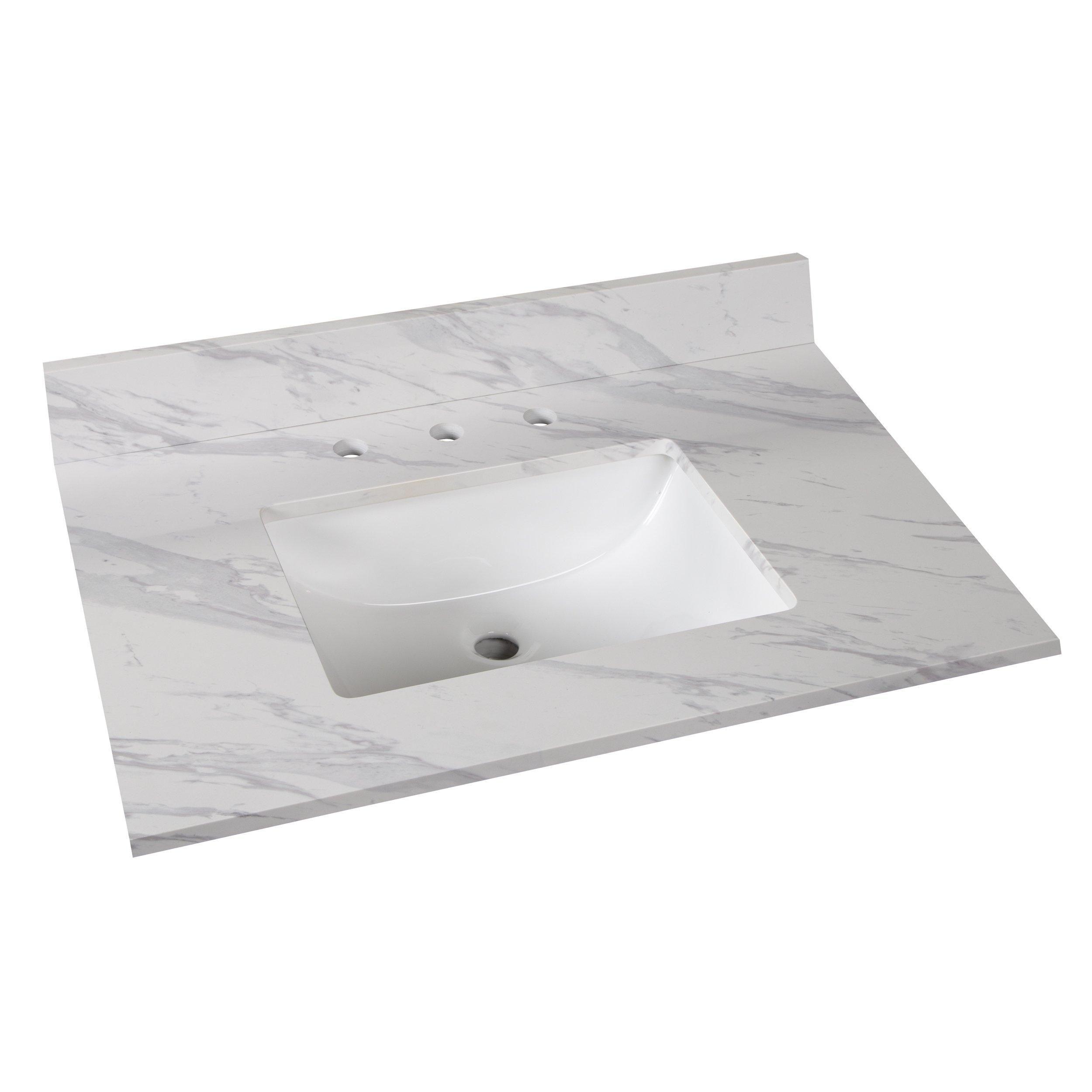 Volakas Engineered Marble 31 In Vanity