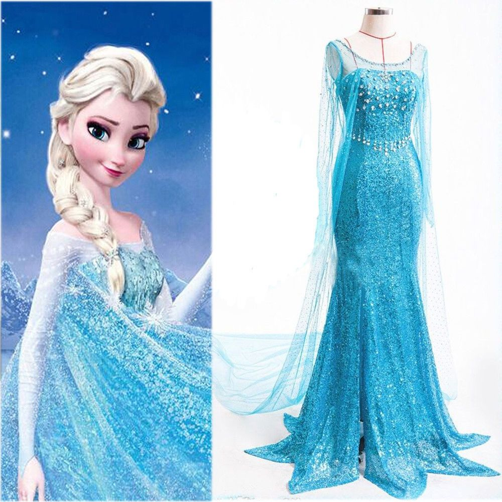 dd44137e49425 Elegant Frozen Princess Elsa Women Gown Dress Cosplay Costume For Adult  Ladies in Clothes, Shoes & Accessories, Fancy Dress & Period Costume, Fancy  Dress | ...