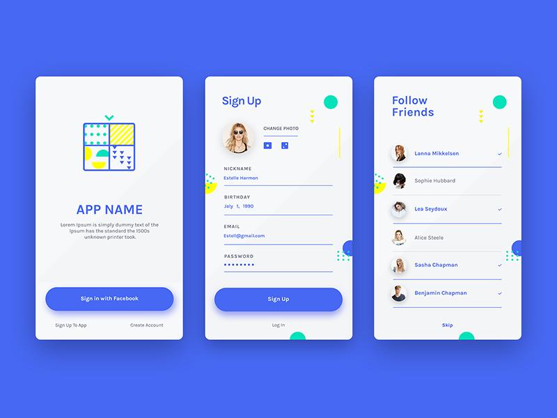 Sign Up Mobile Login Mobile Design Mobile App Design