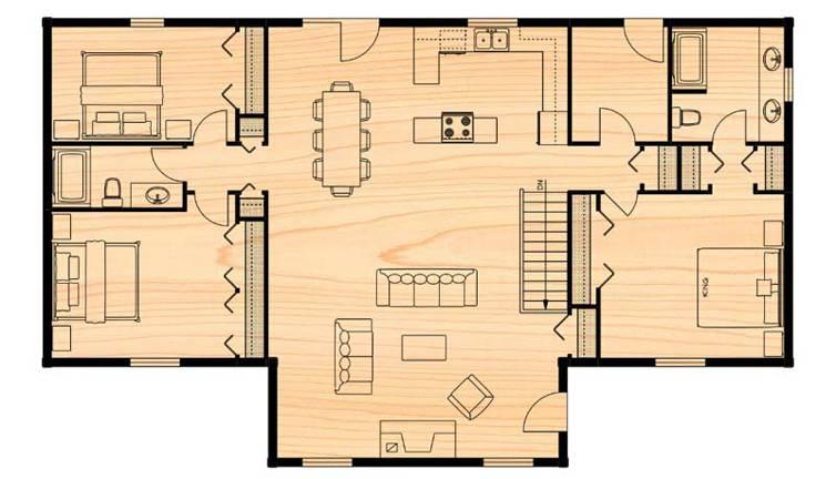 The Klondike Log Home Floor Plan By True North Log Homes In 2020 Log Home Floor Plans House Floor Plans Log Homes