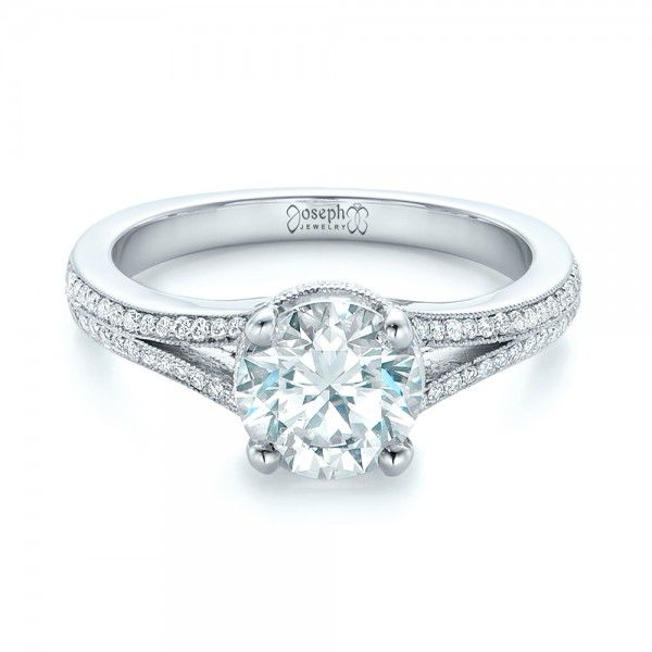mullen shank wide engagement ring split twisted rings diamond unique products