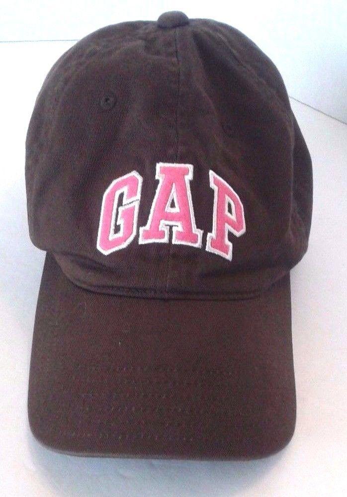 Gap Women s Baseball Cap Hat Adjustable Band Brown with Pink Logo  Gap   BaseballCap 9d0c920edc67