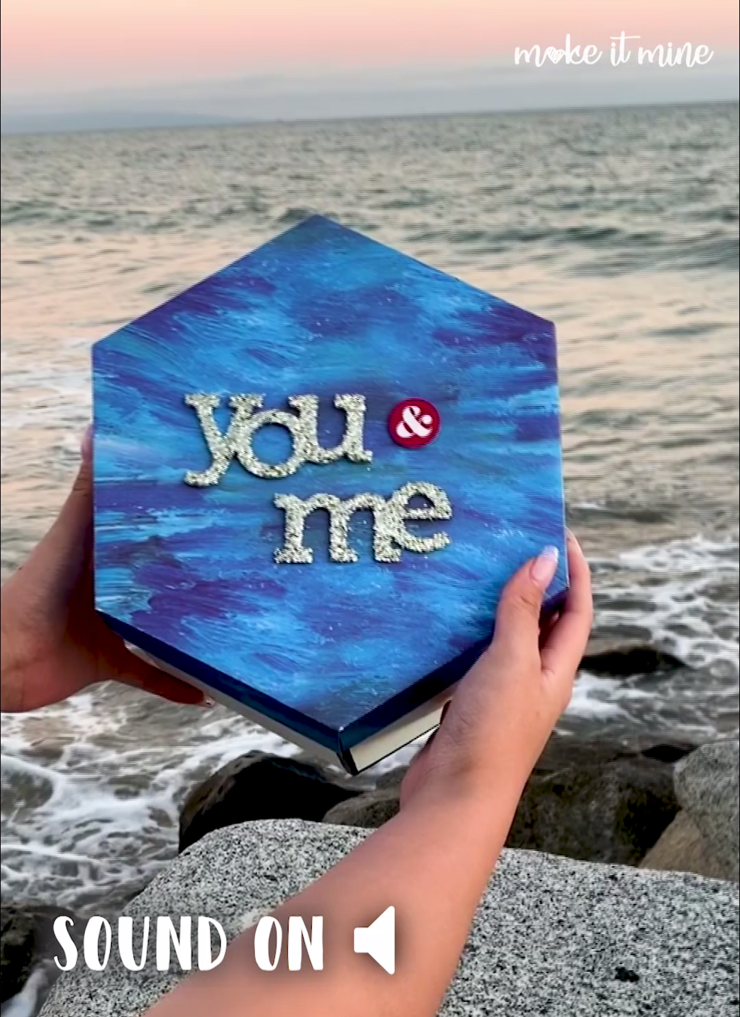 Ocean Inspired Hexagon LoveNote™ by Make it Mine #gifts