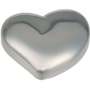 Heart Shaped Door Knob - Brushed Nickel - 6 Pack from Homebase.co.uk ...