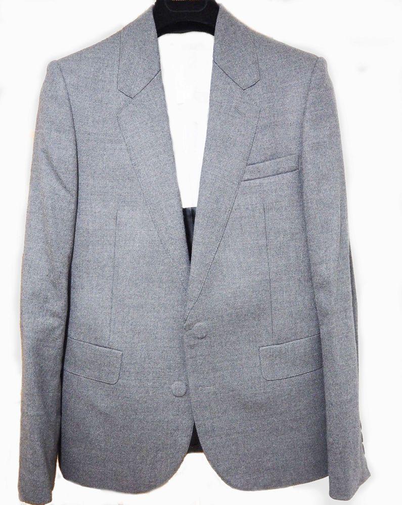 444b9bc8d1204 Maison Martin Margiela H&M Blazer Sport Jacket Grey Wool Suit Coat Fused US  42R #MaisonMartinMargiela #TwoButton