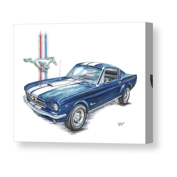 1965 Ford Mustang Canvas Print / Canvas Art by Shannon Watts