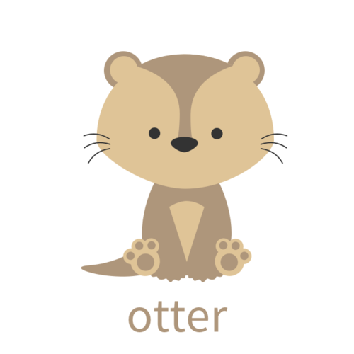 Check Out This Adorable New Addition To The Goodnightfox Com Animal Collection You Can Check Out Draw Animals For Kids Otter Illustration Cute Cartoon Animals
