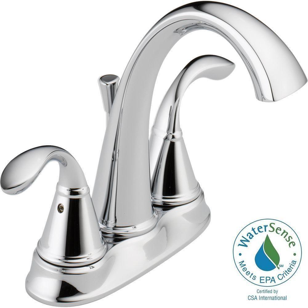 Delta Zella 4 In Centerset 2 Handle Bathroom Faucet In Chrome 25706lf Eco The Home Depot Bathroom Faucets Faucet Delta Faucets [ 1000 x 1000 Pixel ]