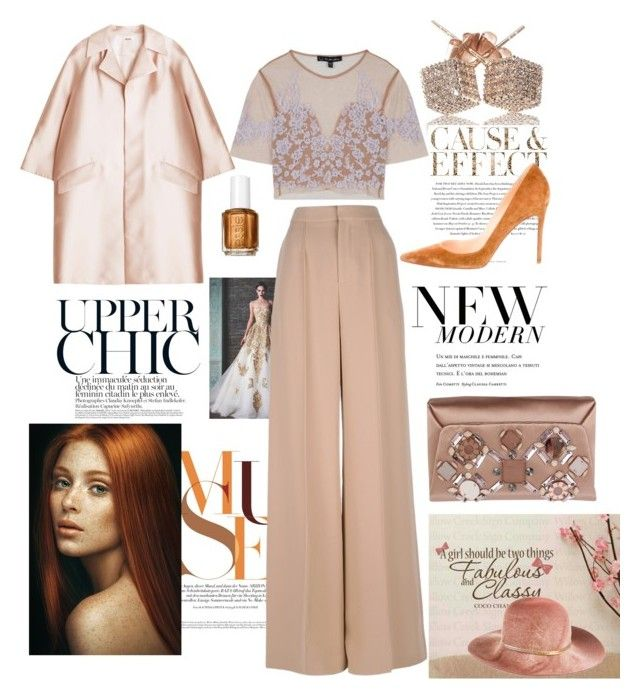 """""""Fawn-Tastic"""" by ropastyle on Polyvore featuring ADAM, Loushelou, Envi, Chloé, Eugenia Kim, For Love & Lemons, Christian Louboutin and Lanvin"""