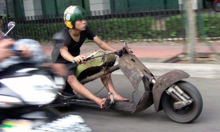 Rat Rod Motorcycle Cool Bikes Vespa Motorcycle Bike