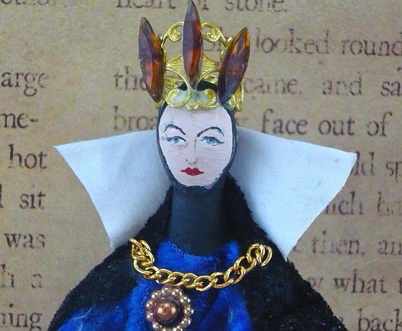 Doll Miniature Wicked Queen of Snow White by UneekDollDesigns