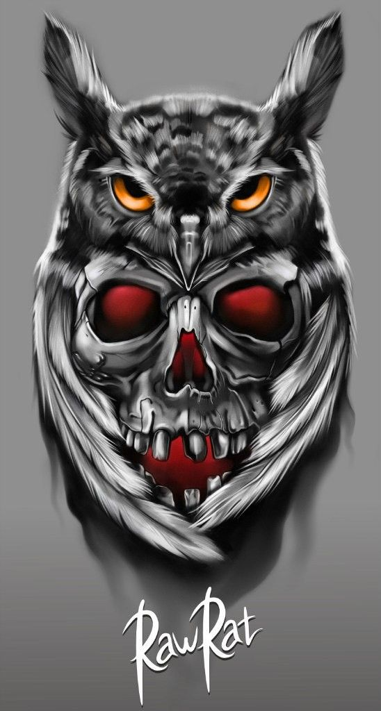 Marcin Owl Skull Tattoos Owl Tattoo Design Owl Tattoo