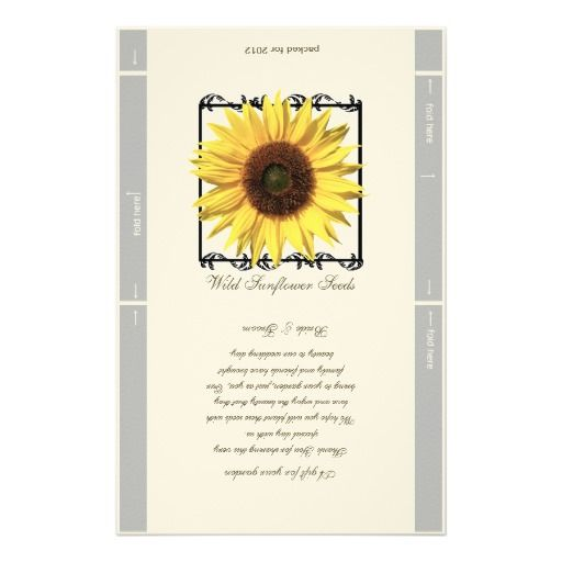 Seed Packet Template Wedding Favor Stationery