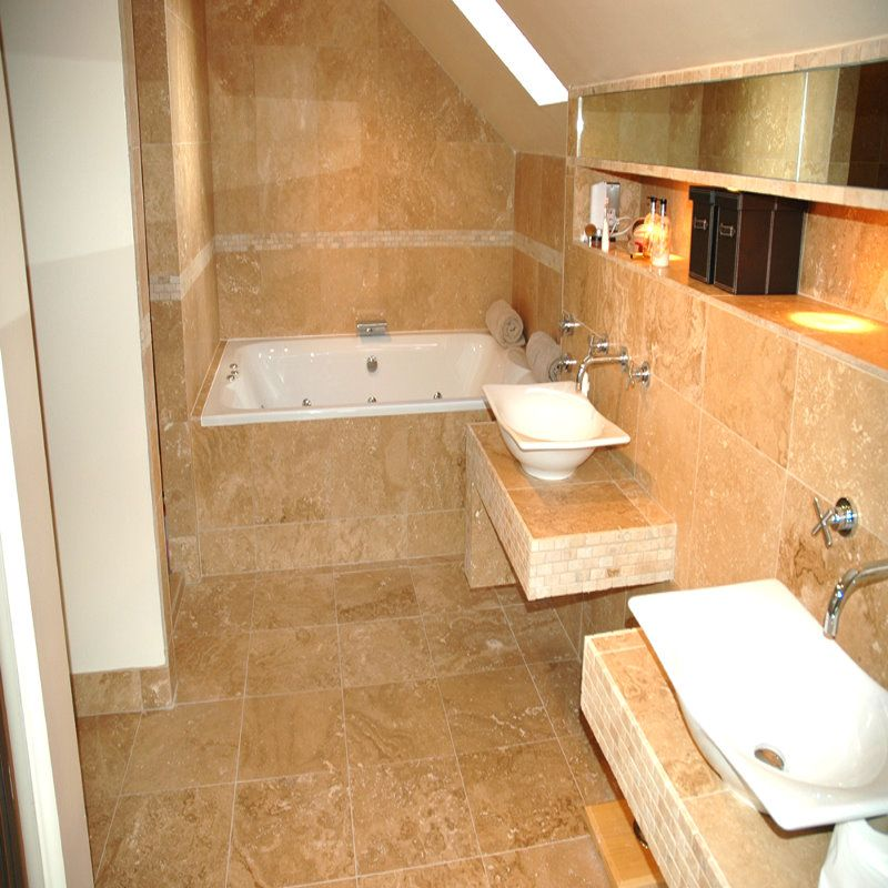 Travertine bathroom setting #5