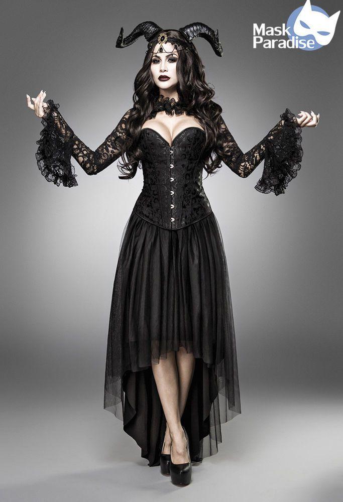Dämonen Kostüm Gothic Demon Fasching Karneval Damen Verkleidung