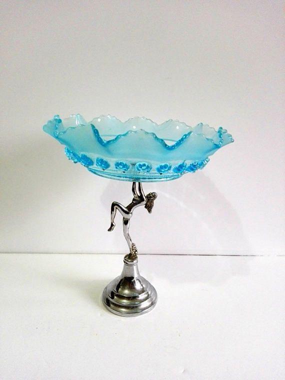 Pedestal bowl art deco french vintage fruit bowl vintage & Pedestal bowl art deco french vintage fruit bowl vintage | Vintage ...