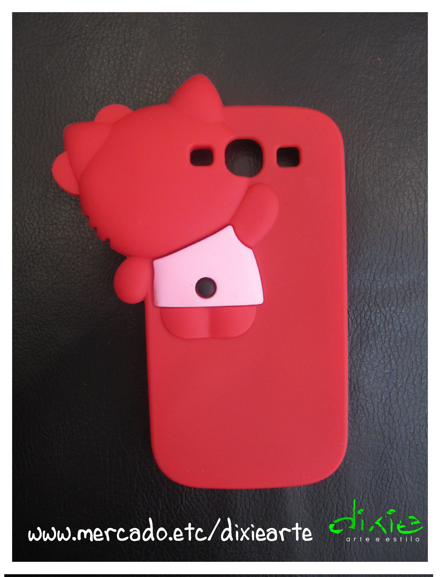 Case Hello Kitty Vermelho  www.mercado.etc.br/dixiearte