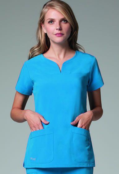 8518095a624 Grey's Anatomy Scrubs-Signature Series- Notch Neck Top #2121 Junior Fit  Notch Neck