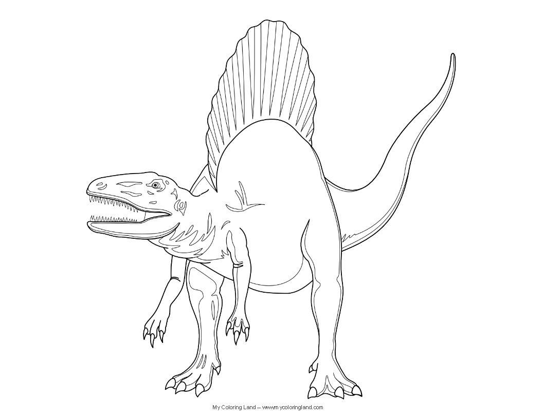 Coloriage Dinosaure Dessin Spinosaure A Imprimer En 2021 Coloriage Dinosaure Dessin Dinosaure Coloriage