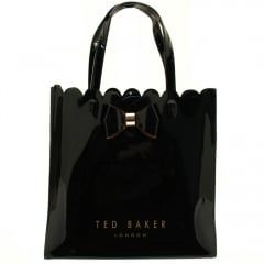c6da984934 Ted Baker Womens Black Scalcon Scalloped Detail Large Icon Bag
