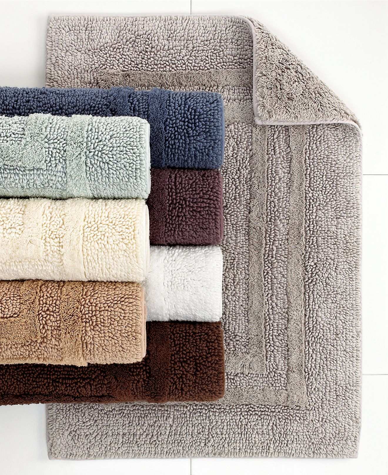 Hotel Collection Cotton Reversible Bath Rugs Cotton Created - Reversible bathroom rugs for bathroom decorating ideas