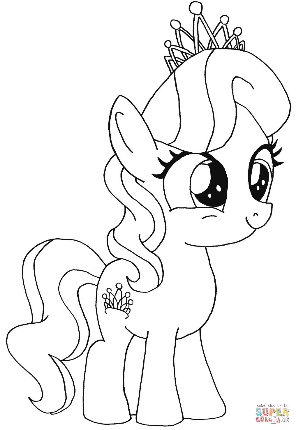 Diamond Tiara My Little Pony Super Coloring Boyama Sayfalari