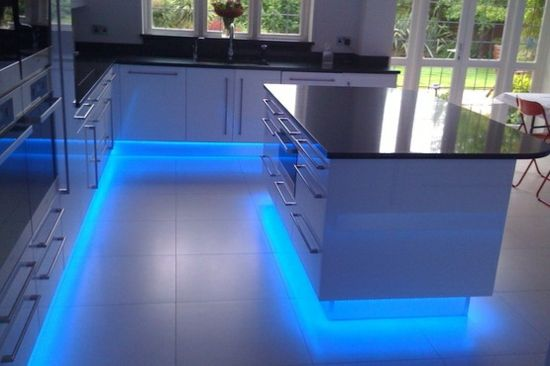 Led Kitchen Lighting Ideas Kitchen LED Lighting Lumilum BLUE Strip Light Led Ideas