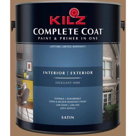Kilz Complete Coat Interior/Exterior Paint & Primer in One, #LD110-01 Gingerbread, Brown