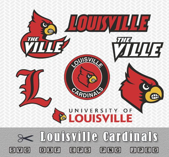 Louisville Cardinals College Sports Vector Svg Logo In 5 Formats Spln002462 Sports Logos Embroidery Vector For Nfl Nba Nhl Mlb Milb And More Embroidery Logo College Basketball Logos Louisville Cardinals