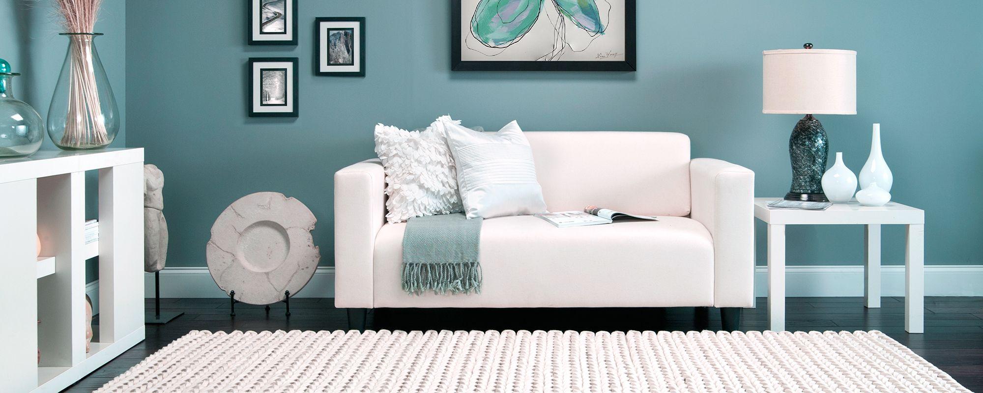 Largelivingroomdecorationwithblueseawallcolorinterior Simple Blue Color Living Room Designs Design Decoration
