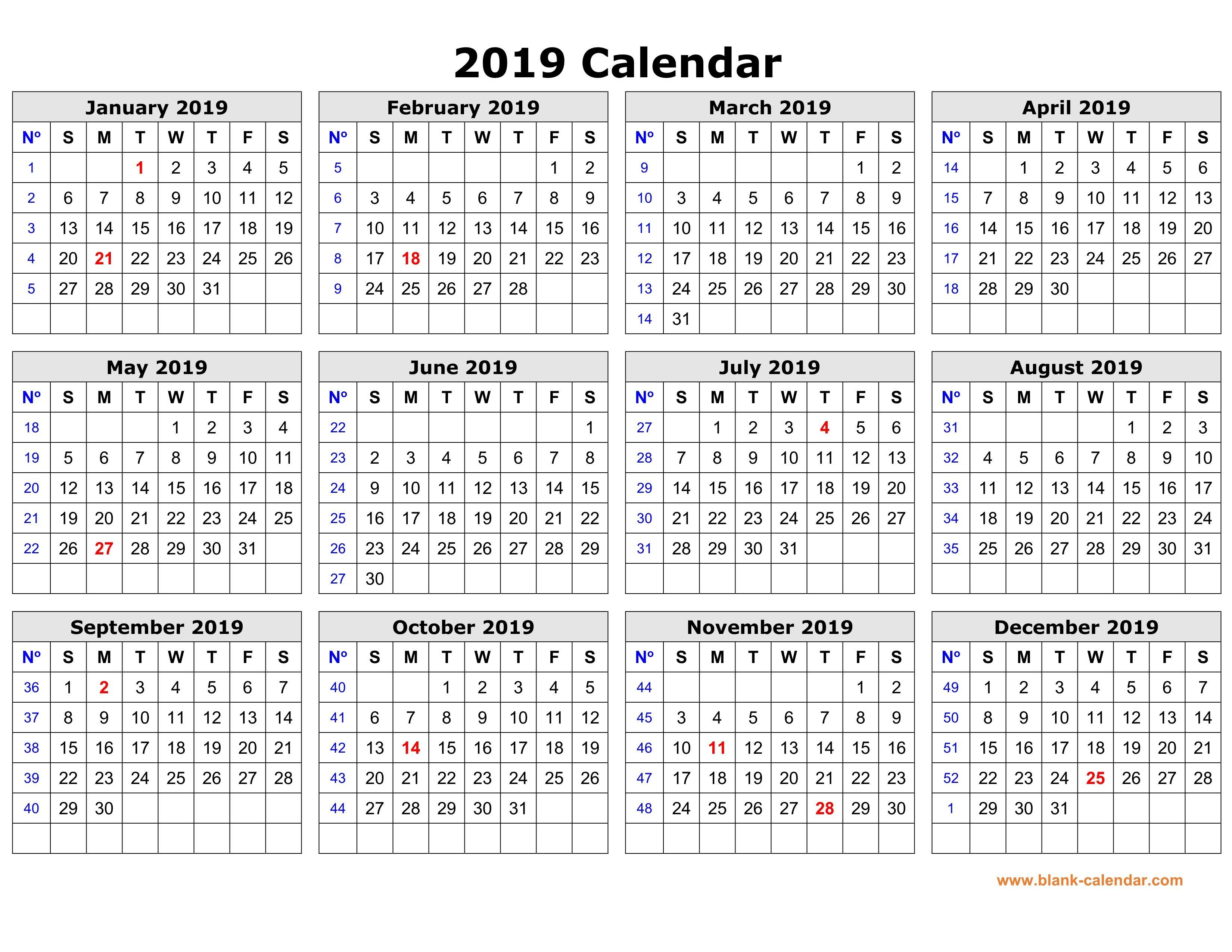 Free To Download And Print Calendar Design Calendar October 2019