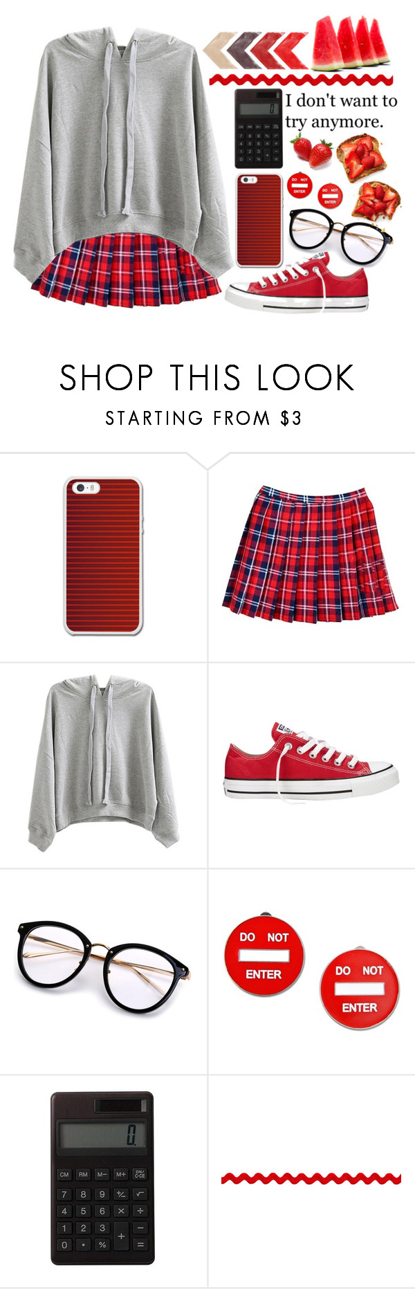 """""""Building Walls All Around Me ♥"""" by shyanimallover5 ❤ liked on Polyvore featuring WithChic, Converse, Moschino and Muji"""