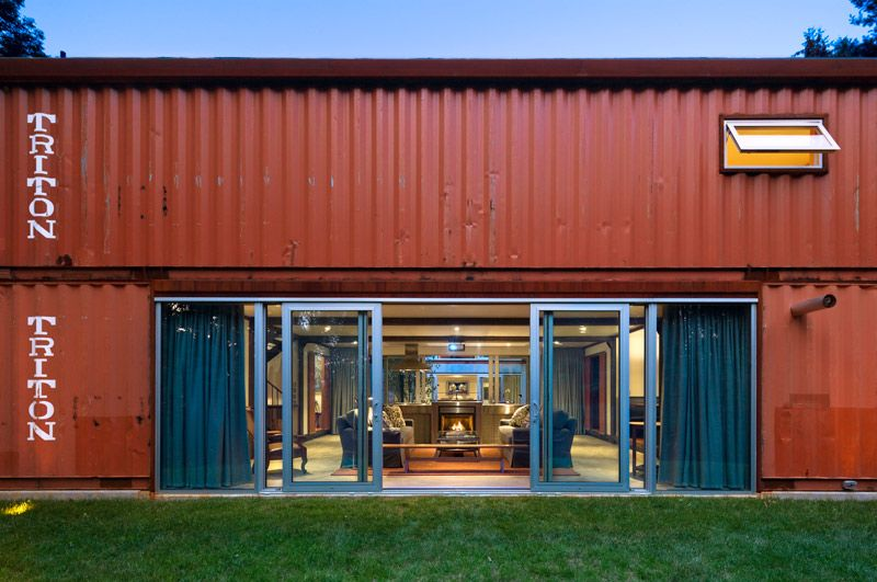 Adam kalkin 39 s old lady house is a modern shipping container masterpiece ships modern and house - Container homes alberta ...