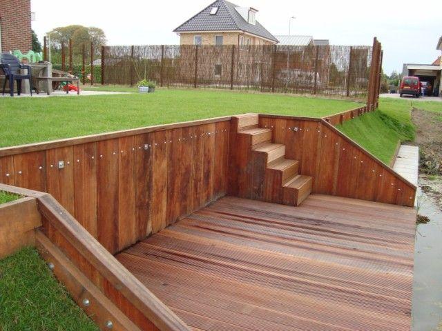 Vlonder terras aanleggen amazing composiet vlonder with for Trap tuin aanleggen